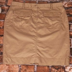 Old Navy Light Brown Cotton Blend Skirt Size 12
